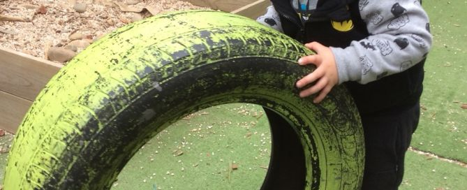 the kids had some tyre fun at the moonglade studio recently