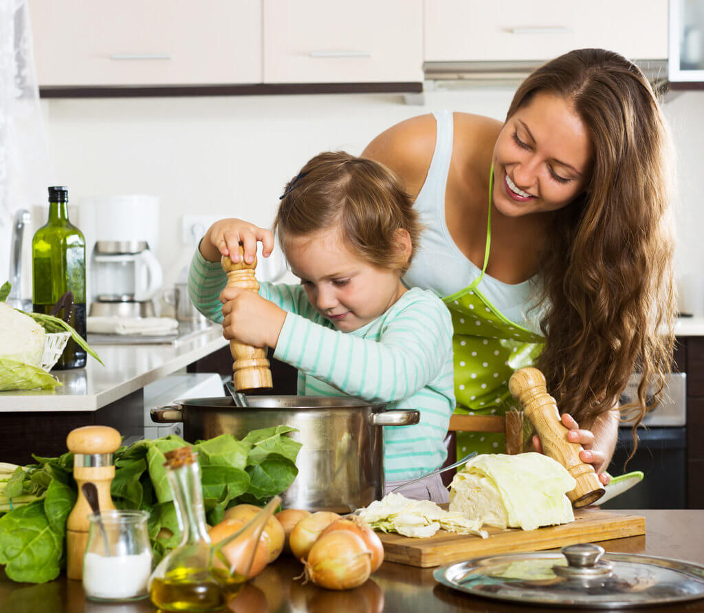 involving your child In cooking for holistic learning